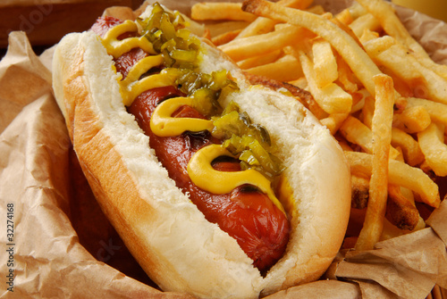 Carta da parati Hot dog and fries