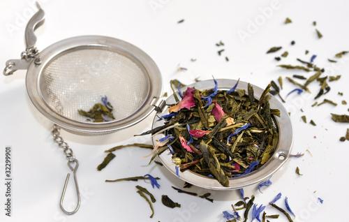 Fotografia, Obraz mélange thé oriental et boule à thé