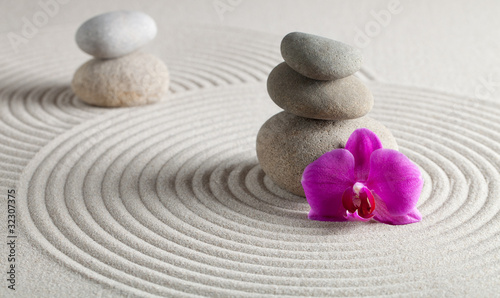 Acrylic Prints Stones in Sand Entspannung