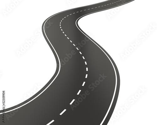 fototapeta na ścianę Curved road