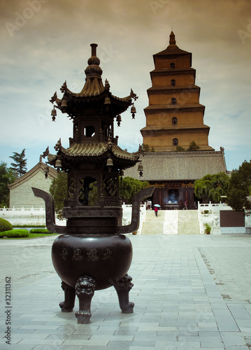 Papiers peints Xian Giant Wild Goose Pagoda - Buddhist pagoda in Xian, China.