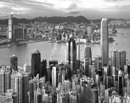 Hong Kong , black and white #32314127