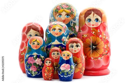 Fotografía wooden doll matrioshka