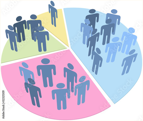 Photo  People statistics population data pie chart
