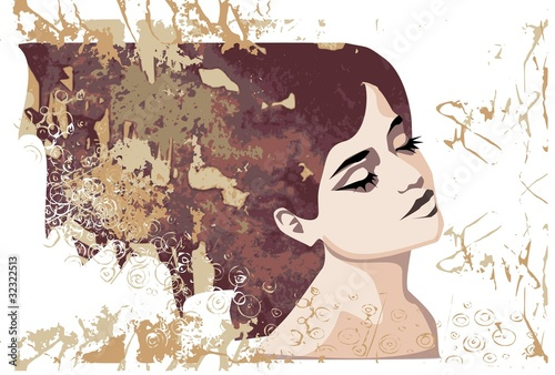 Printed kitchen splashbacks Painterly Inspiration jesienny portret pięknej kobiety