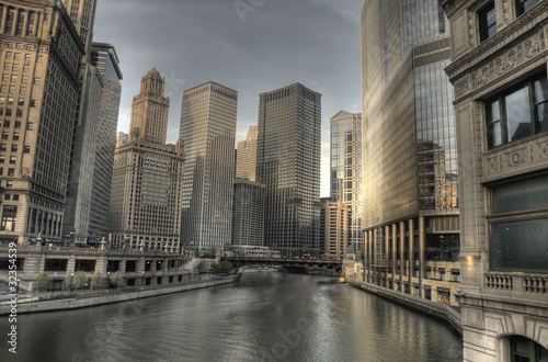 Photo  HDR of Downtown Chicago