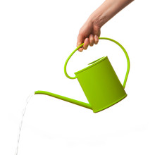 Hand Holding Watering Can Isol...