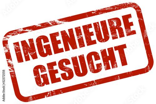 Fotografie, Obraz  Grunge Stempel rot INGENIEURE GESUCHT