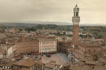 Panel Szklany Podświetlane Toskania Siena