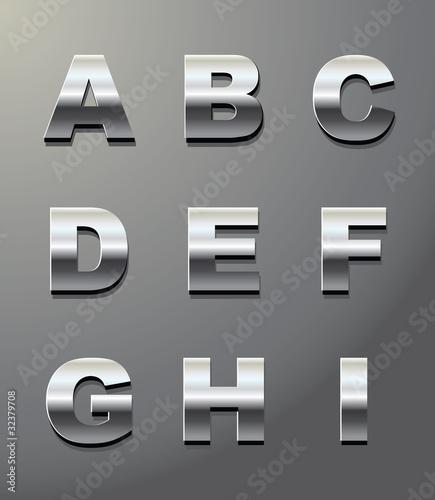Fotografía  shiny metal letters in chrome