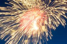 Yellow Firework Close Up