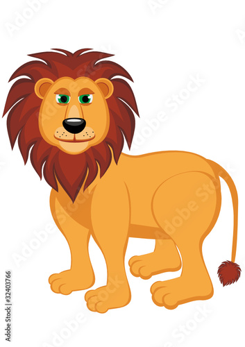 Foto op Aluminium Zoo A lion isolated on a white background