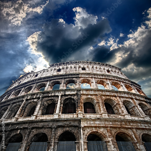 Photo  The Colosseum, flaming arena
