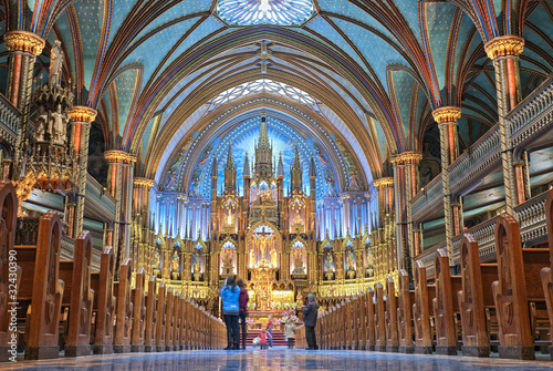 The Notre-Dame Basilica in Montreal Wallpaper Mural