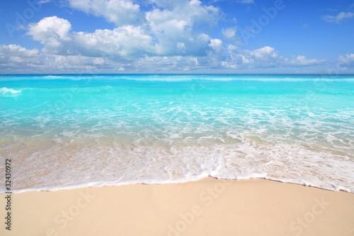 Foto op Plexiglas Caraïben Caribbean turquoise beach perfect sea sunny day