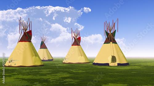 Fotobehang Indiërs Native American Teepees