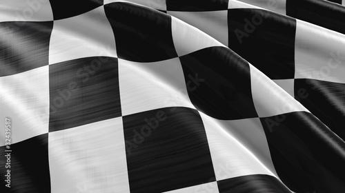Foto op Plexiglas F1 Zielflagge High-Detail