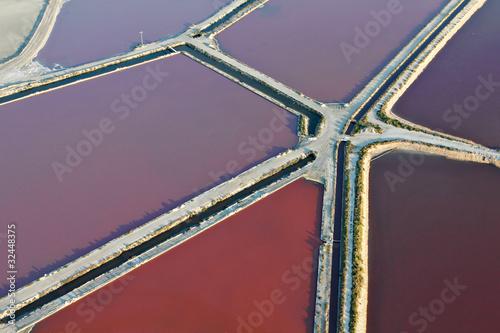Photo Stands Candy pink vue aérienne des Marais salants
