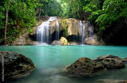Waterfall in Kanchanaburi Province,Thailand - 32455007