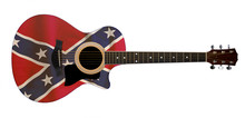 Acoustic Guitar With South Confederate Flag
