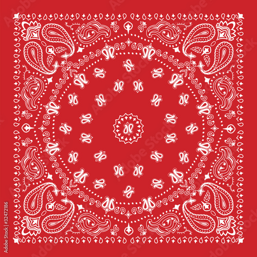 Canvas Print Bandana design in red and white