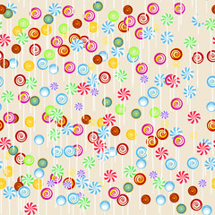 Seamless candy background