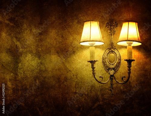 Photo  vintage wall lamp