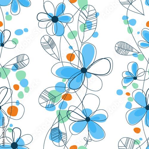 Tuinposter Abstract bloemen Vector floral seamless pattern