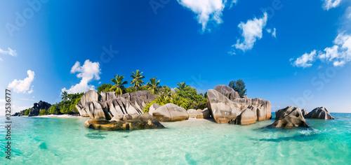 Fotografering Anse Source d'Argent, la Digue, Seychelles