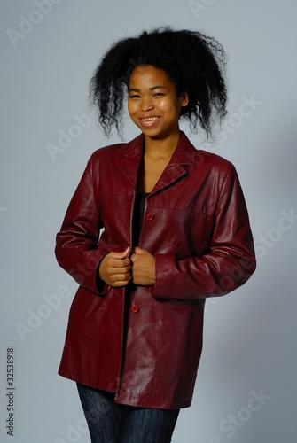 Cuadros en Lienzo veste en cuir rouge