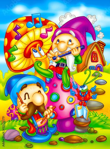 Poster Magic world singing elves