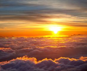 Panel Szklany Podświetlane Wschód / zachód słońca Sunset scene