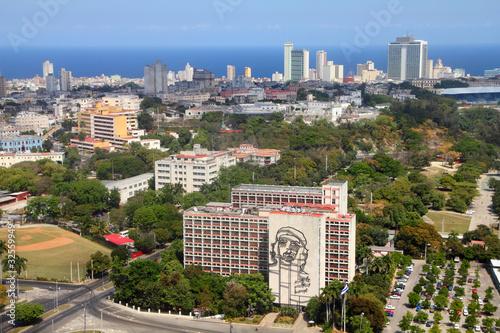 Havana, Cuba - aerial view with Vedado Canvas Print