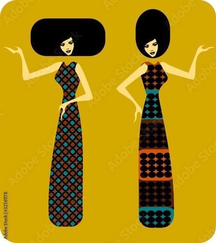Poster Inspiration painterly moda lat siedemdziesiątych