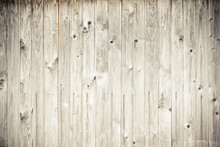Weathered Wood Plank Fence