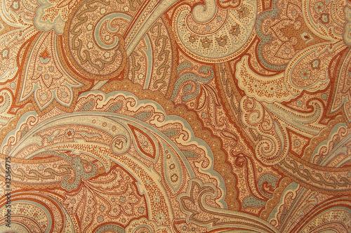 Fototapeta A brown paisley 70s style design pattern