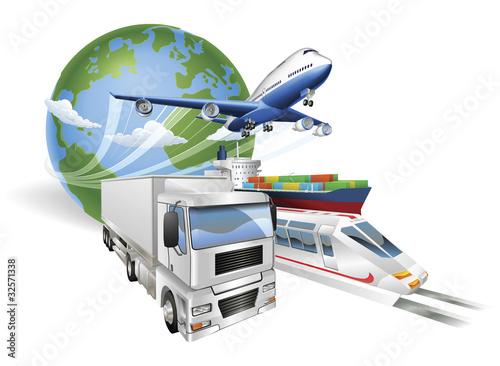 globalny-logistyki-pojecia-samolotu-ciezarowki-pociagu-statek