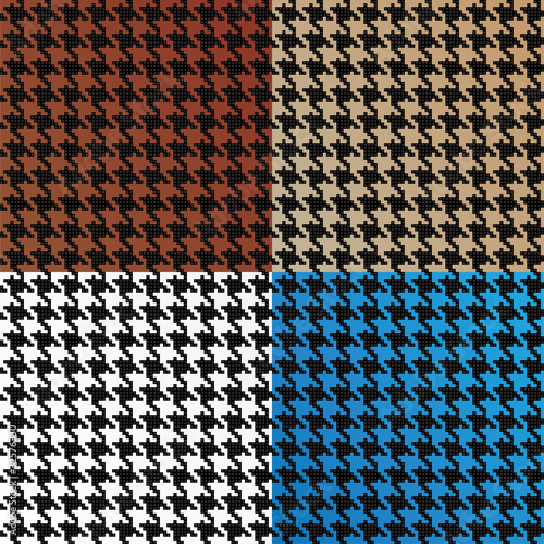 Seamless Vector Houndstooth Pattern Assortment Canvas Print