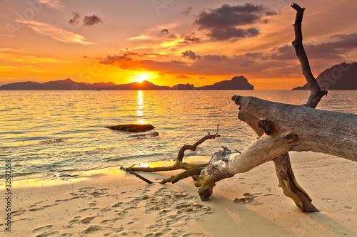 Obraz Zachód słońca - fototapety do salonu