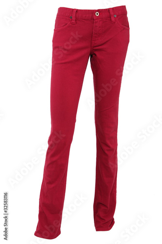 Fotografie, Obraz  Red female trousers