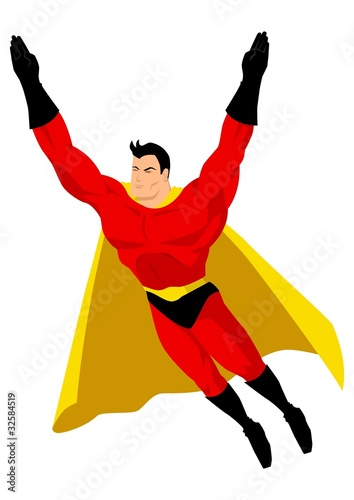 Poster Superheroes Superhero in flying pose