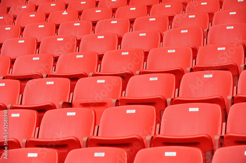 Poster Stadion red football seats