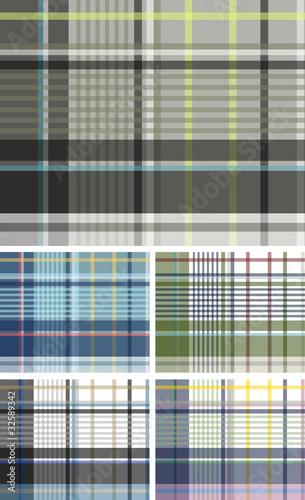 plaid check pattern design Canvas Print