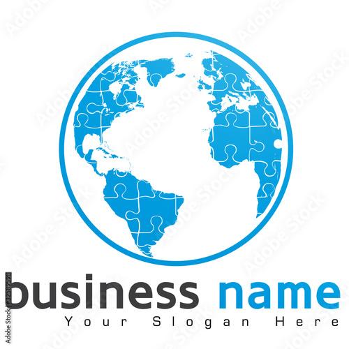 a4ff9d8e88e logo globe terrestre puzzle - Buy this stock vector and explore ...