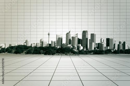 Obraz City - fototapety do salonu
