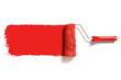 Leinwanddruck Bild - red paint roller