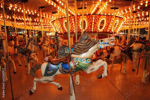 Fotografie, Obraz  Horses on a Carousal