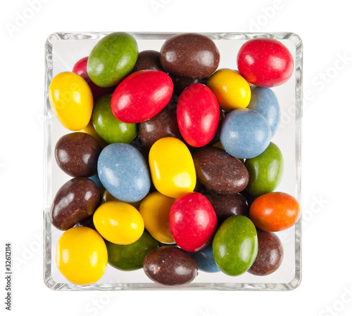 Foto op Aluminium Snoepjes Sweets aka candies in bowl - isolated