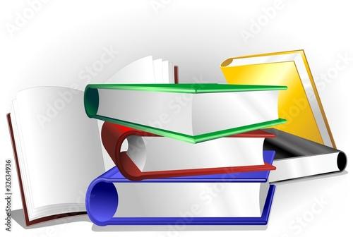 Photo sur Aluminium Draw Libri Sfondo-Books Background-Vector