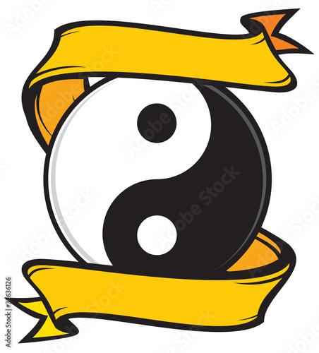 Photo  jing jang (ying yang) tattoo symbol